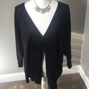 Maurice's Black Short Sleeve Cardigan 💕